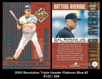 2000 Revolution Triple Header Platinum Blue #2