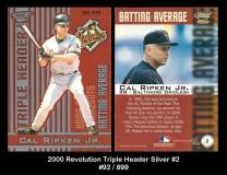 2000 Revolution Triple Header Silver #2