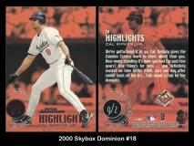 2000 Skybox Dominion #18