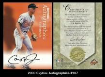 2000 Skybox Autographics #107