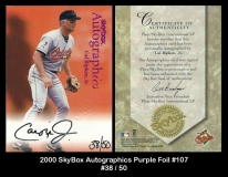 2000 Skybox Autographics Purple Foil #107