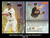 2000 Skybox Higher Level Star Rubies #HL1
