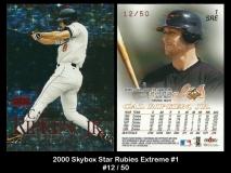 2000 Skybox Star Rubies Extreme #1