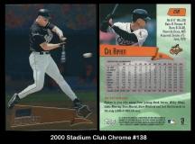 2000 Stadium Club Chrome #138
