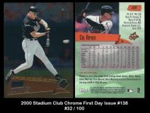 2000 Stadium Club Chrome First Day Issue #138