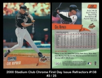 2000 Stadium Club Chrome First Day Issue Refractors #138