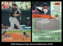2000 Stadium Club Chrome Refractors #138