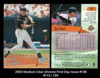 2000 Stadium Club First Day Issue #138