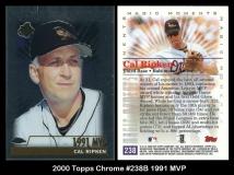 2000 Topps Chrome #238B 1991 MVP