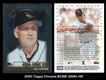 2000 Topps Chrome #238E 400th HR