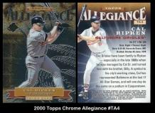 2000 Topps Chrome Allegiance #TA4
