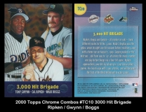 2000 Topps Chrome Combos #TC10 3000 Hit Brigade