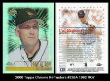 2000 Topps Chrome Refractors #238A 1982 ROY