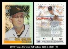 2000 Topps Chrome Refractors #238E 400th HR