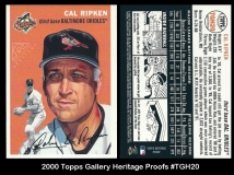 2000 Topps Gallery Heritage Proofs #TGH20