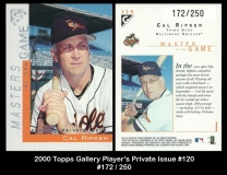 2000 Topps Gallery Players Private Issue #120