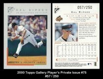 2000 Topps Gallery Players Private Issue #75