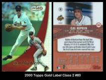 2000 Topps Gold Label Class 2 #80