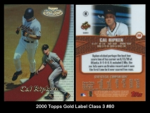 2000 Topps Gold Label Class 3 #80