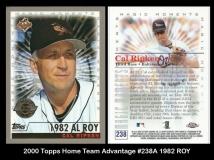 2000 Topps Home Team Advantage #238A 1982 ROY