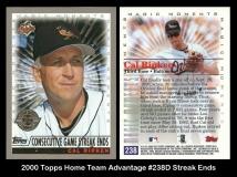 2000 Topps Home Team Advantage #238D Streak Ends