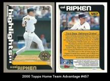 2000 Topps Home Team Advantage #457