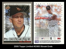 2000 Topps Limited #238B Streak Ends