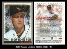 2000 Topps Limited #238E 400th HR