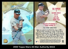 2000 Topps Stars All-Star Authority #AS4