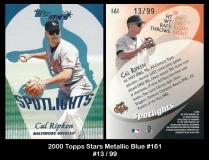 2000 Topps Stars Metallic Blue #161