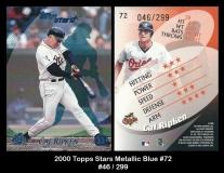 2000 Topps Stars Metallic Blue #72
