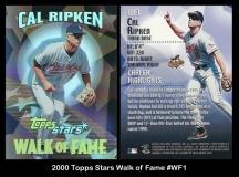 2000 Topps Stars Walk of Fame #WF1