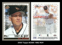 2000 Topps #238A 1982 ROY