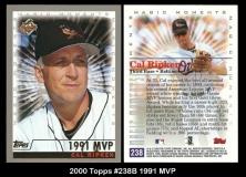 2000 Topps #238B 1991 MVP