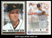 2000 Topps #238E 400th HR