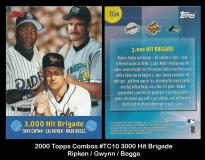 2000 Topps Combos #TC10 3000 Hit Brigade