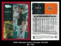 2000 Ultimate Victory Parallel 100 #20