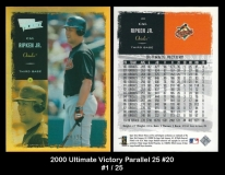 2000 Ultimate Victory Parallel 25 #20