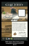 2000 Upper Deck Game Jersey Autograph Numbered #CR