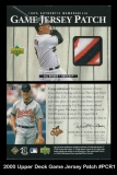 2000 Upper Deck Game Jersey Patch #PCR1