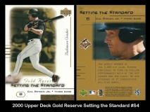 2000 Upper Deck Gold Reserve Setting the Standard #S4
