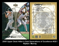 2000 Upper Deck Hitters Club Generations of Excellence #GE1