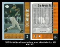 2000 Upper Deck Legends Commemorative Collection #51