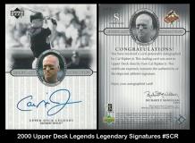 2000 Upper Deck Legends Legendary Signatures #SCR