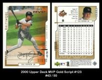 2000 Upper Deck MVP Gold Script #123