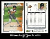 2000 Upper Deck MVP Super Script #123