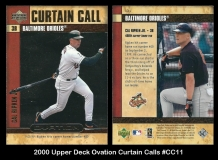 2000 Upper Deck Ovation Curtain Calls #CC11