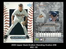2000 Upper Deck Ovation Standing Ovation #36