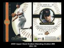 2000 Upper Deck Ovation Standing Ovation #89