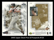 2000 Upper Deck Pros and Prospects #123